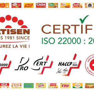 PATISEN certifié ISO 22000 : 2005